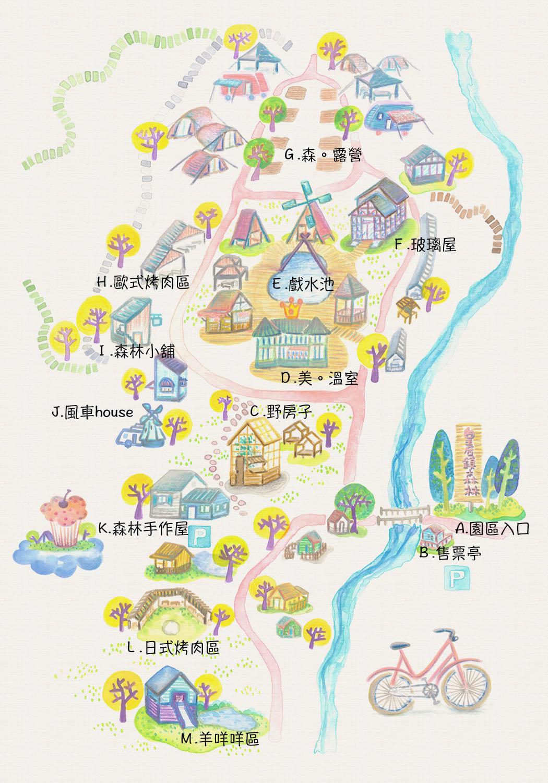 皇后鎮森林地圖