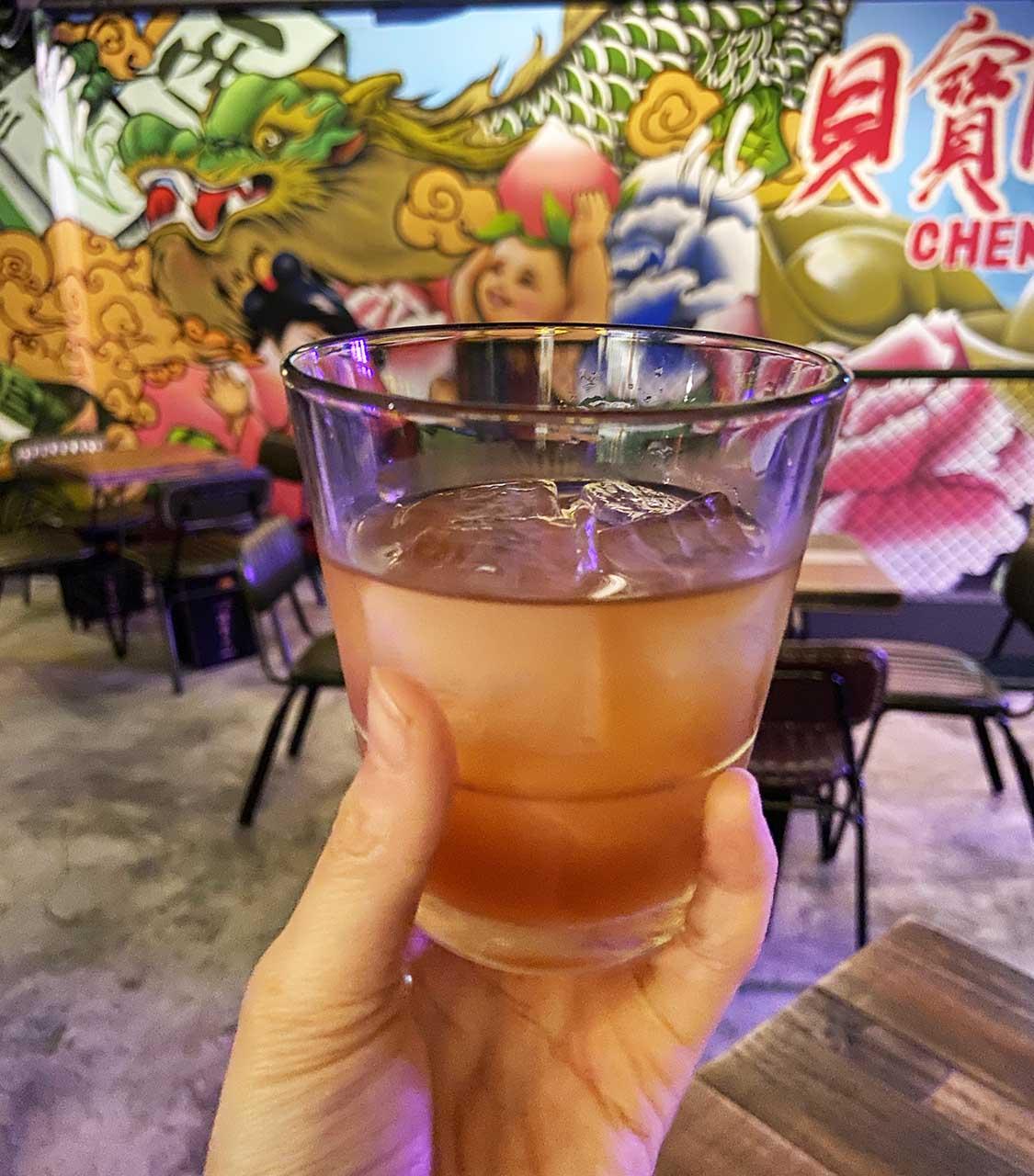 成都玖肆/蒂寶麻雀館/心肝寶貝:調酒_福如東海五福酒、有位賭神叫妞妞